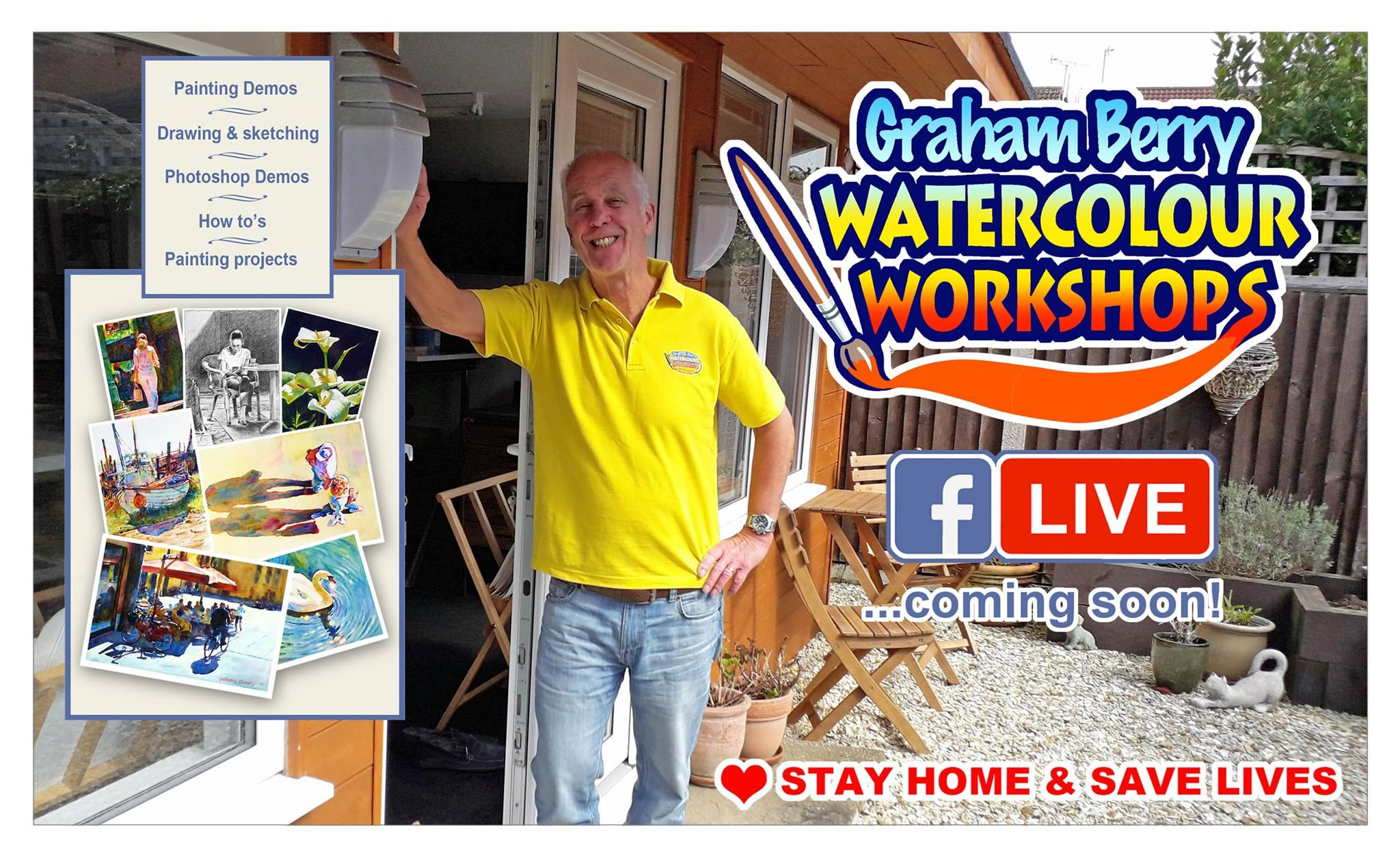 Online Watercolour workshops - Graham Berry
