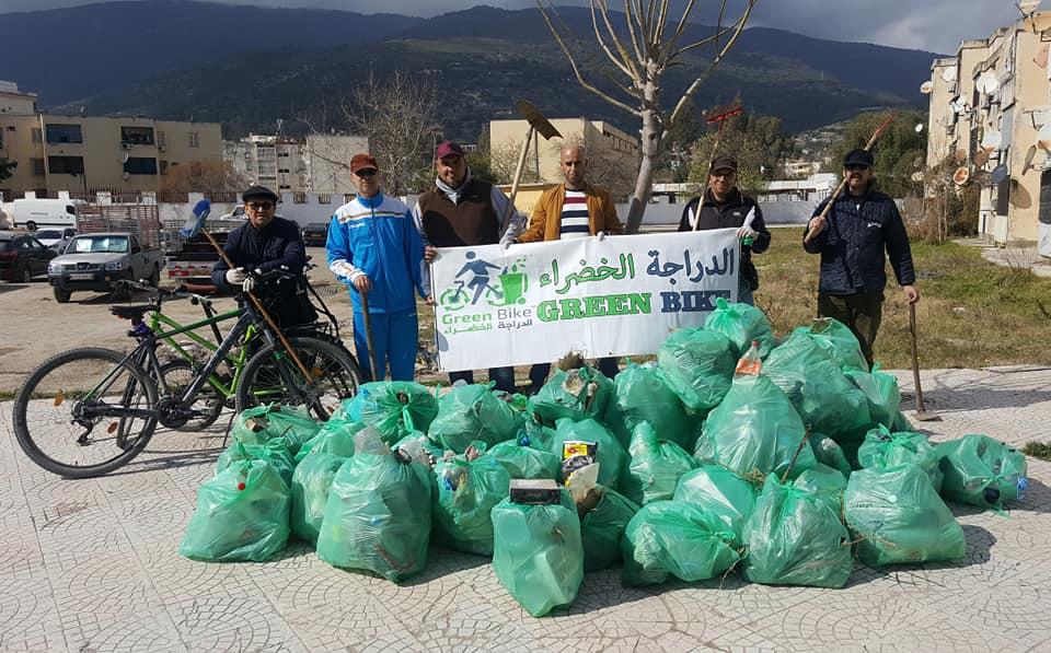 عملية تنظيف بحي الصفصاف GREEN BIKE - GREEN BIKE