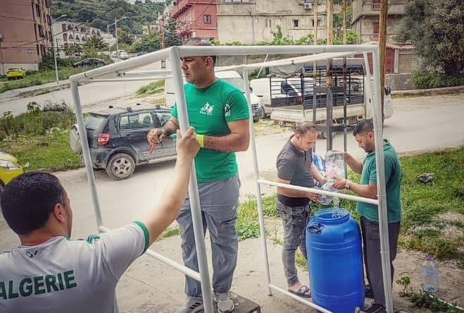 صناعة ممر تعقيم صحي 2 - GREEN BIKE
