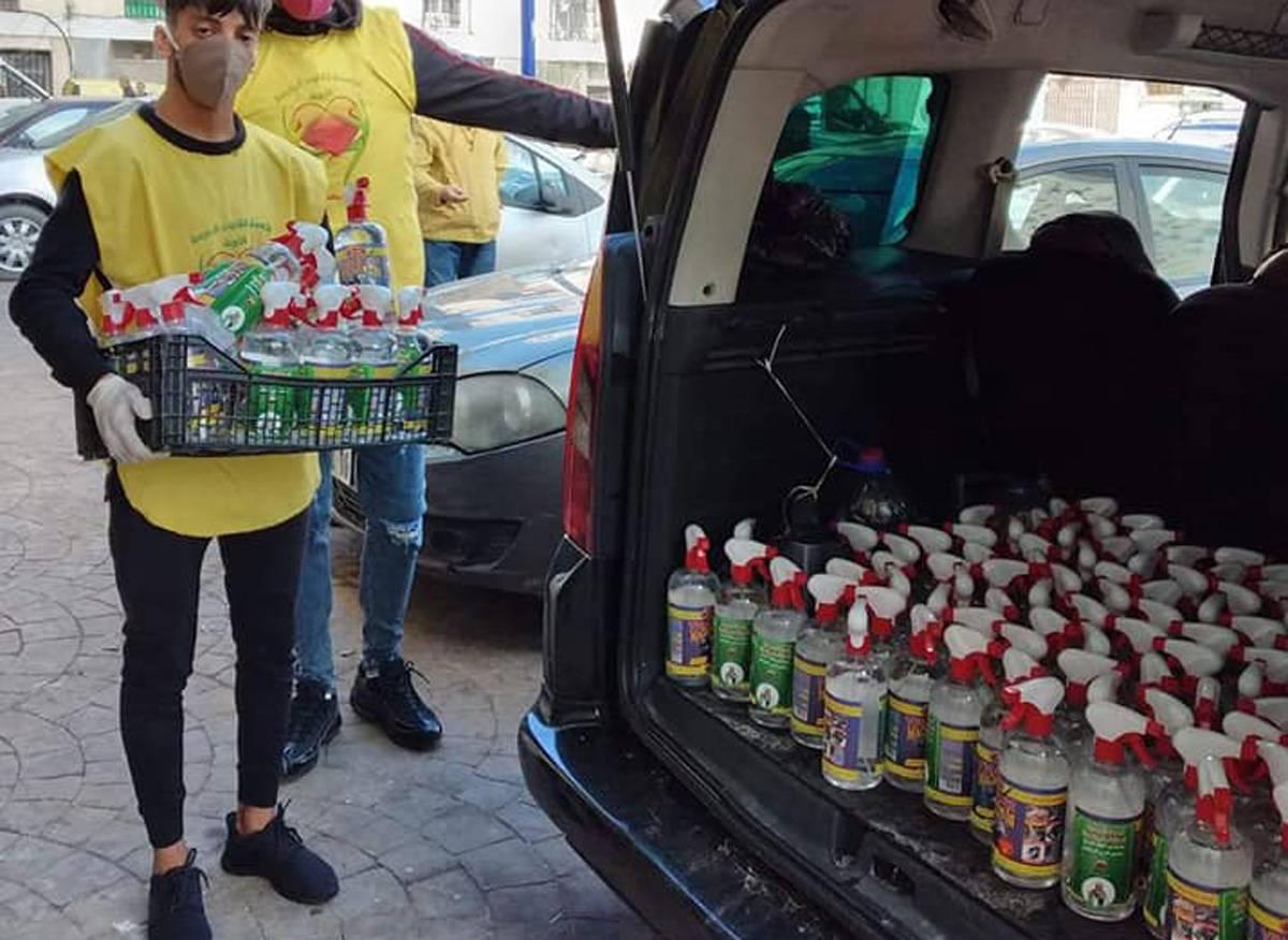 حملة توزيع خل كحولي 1 لتر - مؤسسة القلوب الرحيمة الخيرية