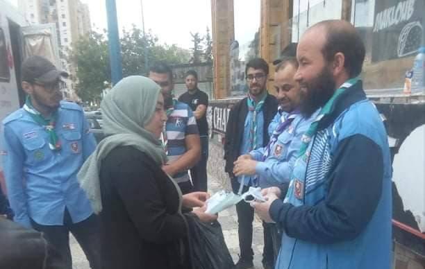 توزيع كمامات على القائمين على حملة التبرع بالدم - تنسيقية ولاية عنابة للتكتل الوطني للتضامن و الإغاثة