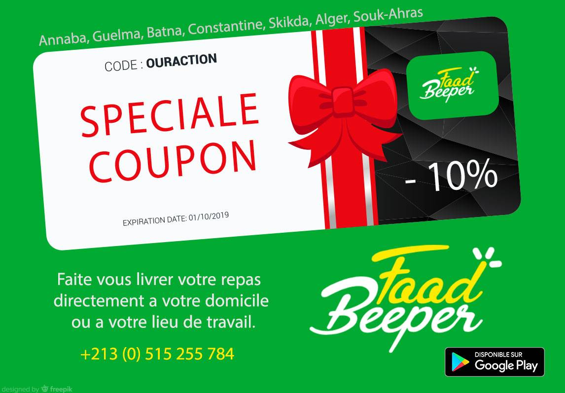 Gift from OurAction: Discount on your food orders with Food Beeper App