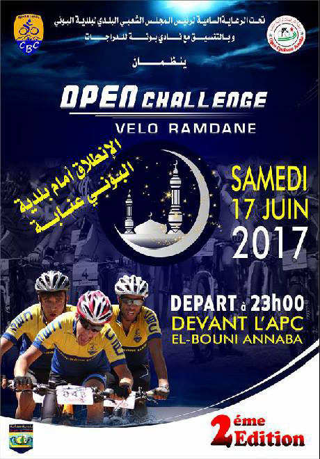 Open Challenge Vélo Ramadan 2017 - Cyclo Bone
