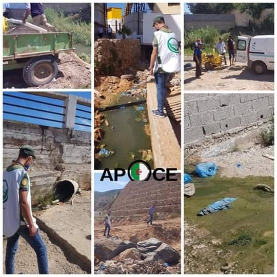 تنقل اعضاء مكتب وهران الى مكان تواجد النقاط السوداء على مستوى الشواطئ - المنظمة الجزائرية لحماية و ارشاد المستهلك و محيطه