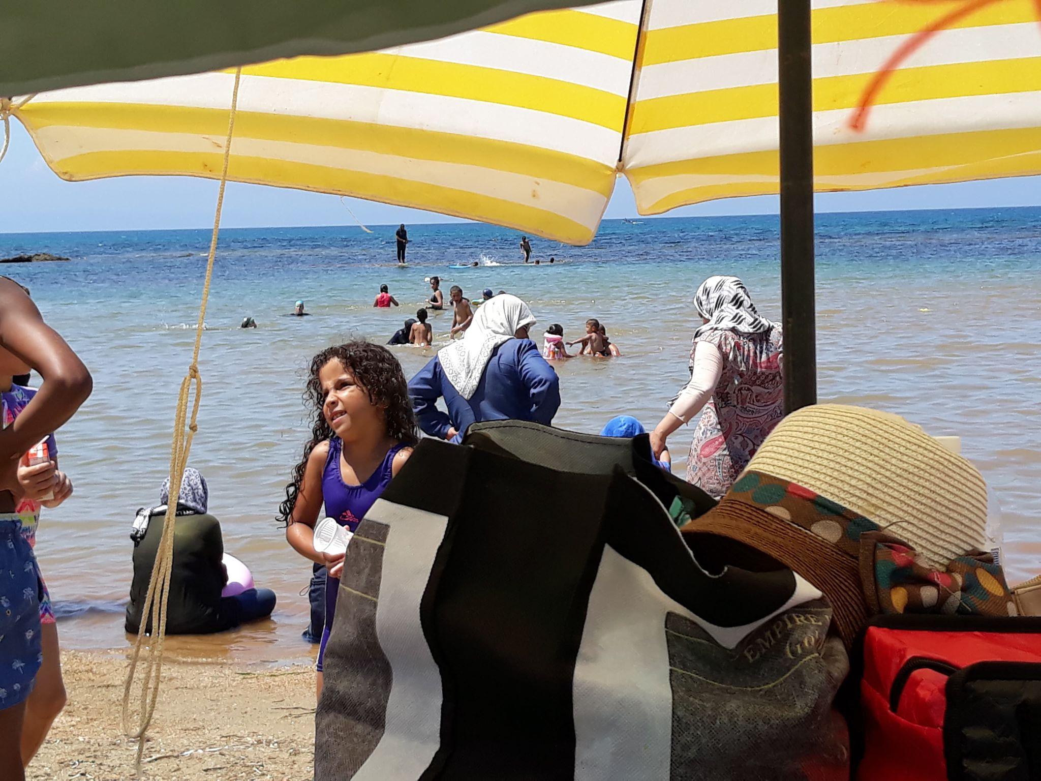 موكب السيارات في رحلة للبحر - كافل اليتيم الوطنية - مكتب ولاية عنابة