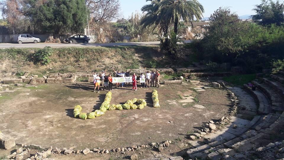 عملية تنظيف المسرح الروماني هيبون - GREEN BIKE