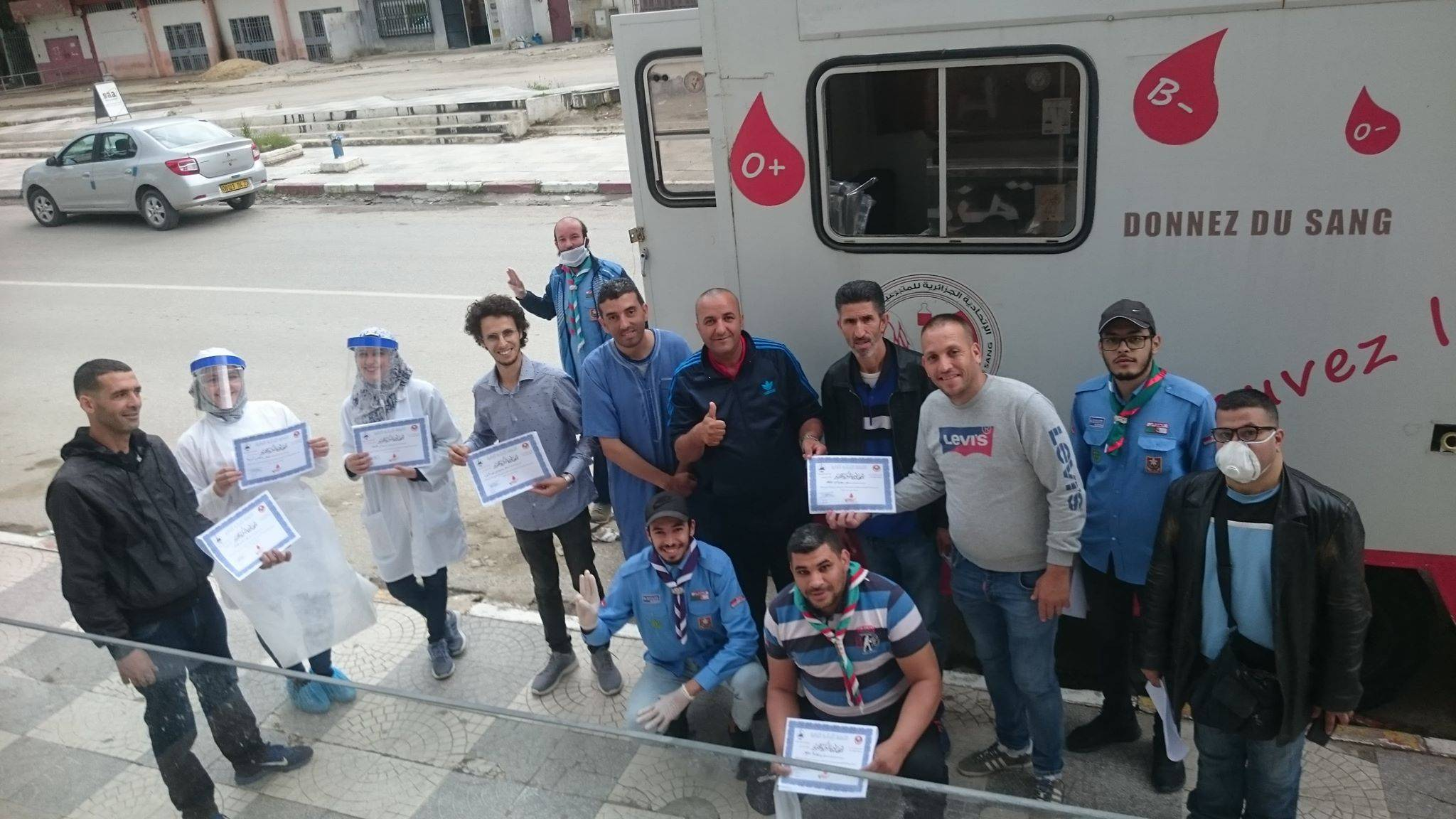 حملة تبرع بالدم بمحطة القطار سابقا -سيدي عمار- - الكشافة الإسلامية الجزائرية - فوج الشهيد عبان رمضان -
