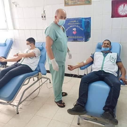 حملة تبرع بالدم بولاية مستغانم  - المنظمة الجزائرية لحماية و ارشاد المستهلك و محيطه