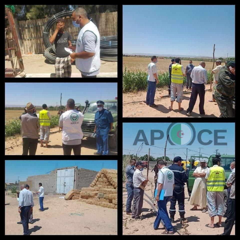 حملة التحسيسية للحد من حرائق الغابات والمحاصيل الزراعية - المنظمة الجزائرية لحماية و ارشاد المستهلك و محيطه