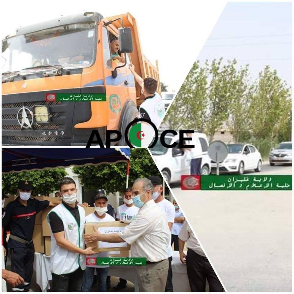 عملية توزيع 20000  قناع واقي غليزان - المنظمة الجزائرية لحماية و ارشاد المستهلك و محيطه