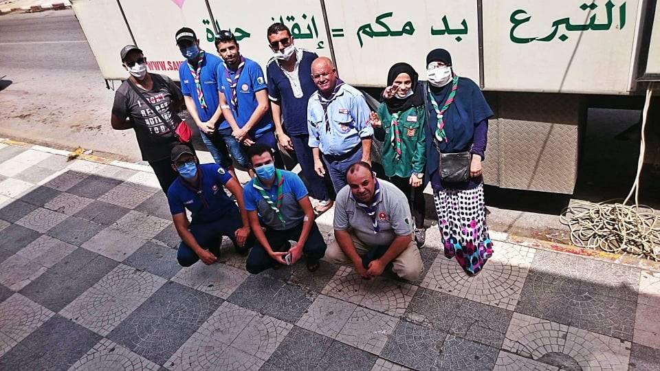 حملة تبرع بالدم بمحطة القطار سابقا -سيدي عمار - الكشافة الإسلامية الجزائرية - فوج الشهيد عبان رمضان -