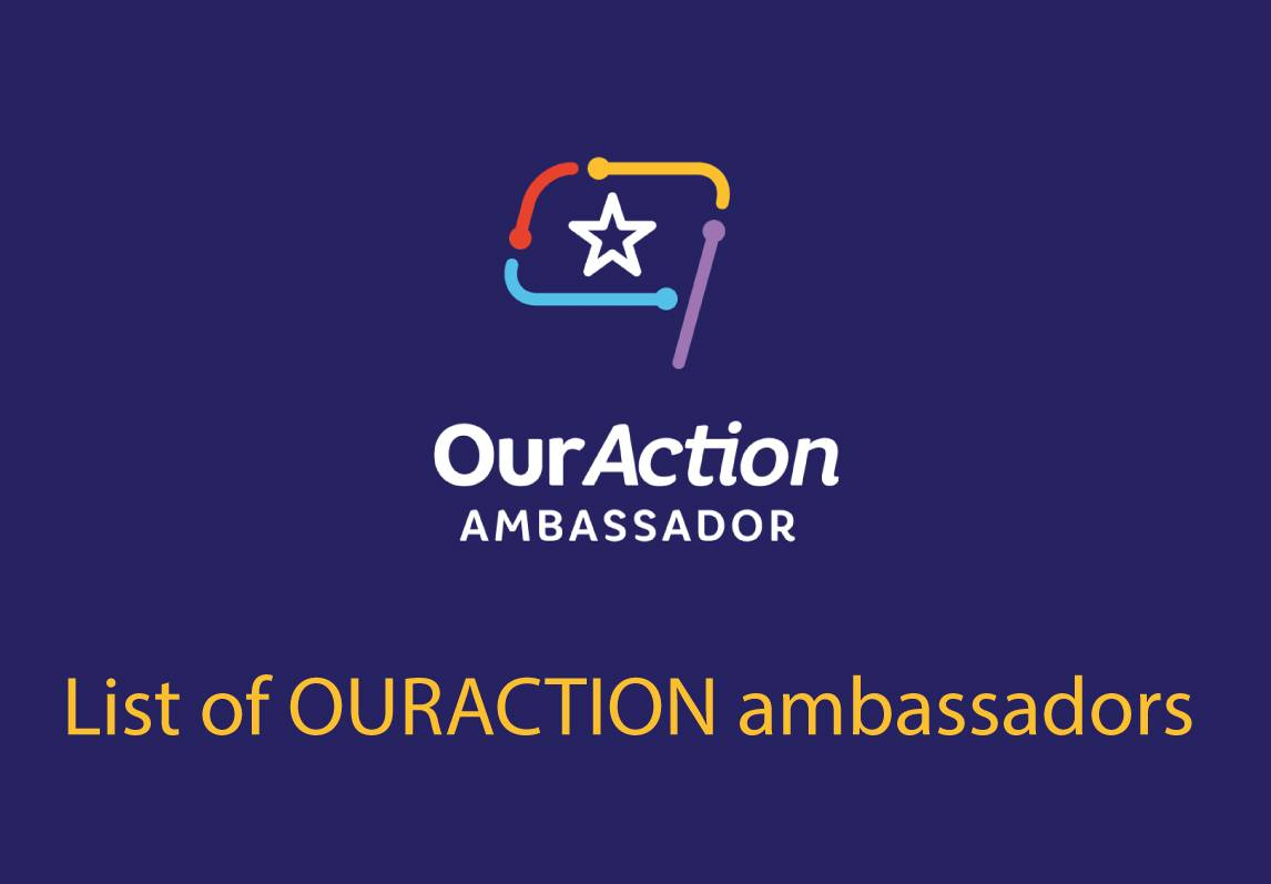The list of ambassadors of the open activities platform OURACTION.NET