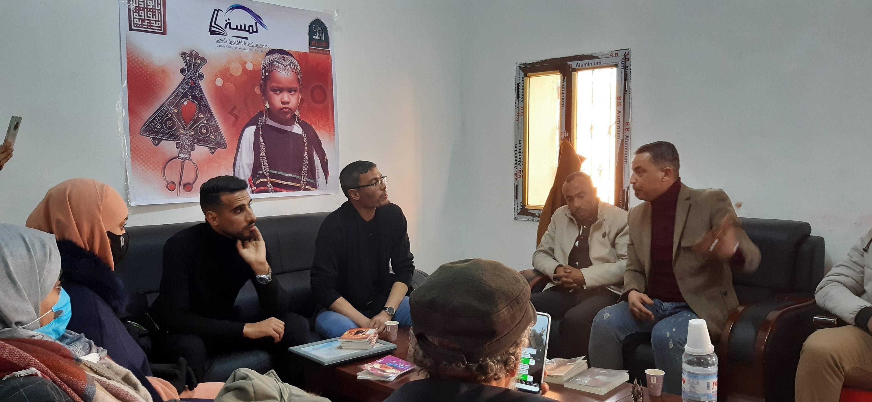 جلسة ادبية مع كتاب المغير - جمعية لمسة الثقافية المغير