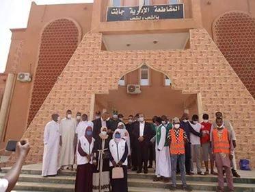 حملة توزيع الكمامات من طرف مكتب جانت  - المنظمة الجزائرية لحماية و ارشاد المستهلك و محيطه