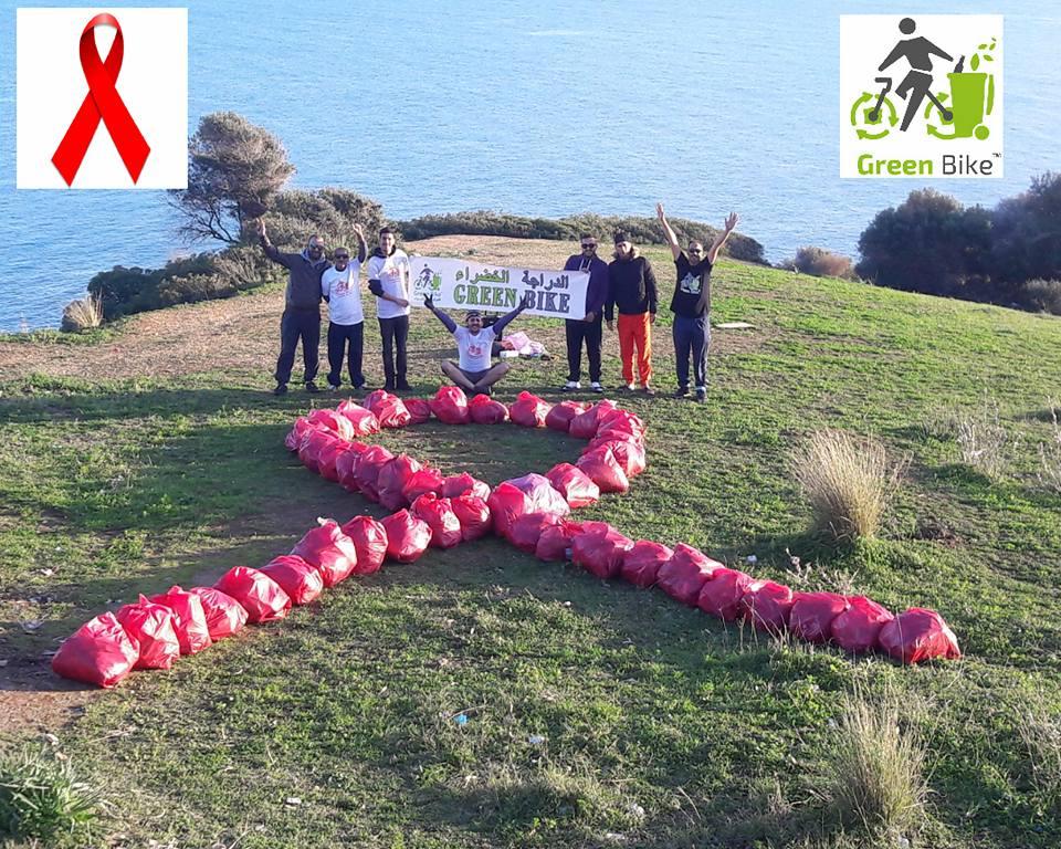 حملة الدراجة الخضراء للتحسيس بمخاطر السيدا - GREEN BIKE