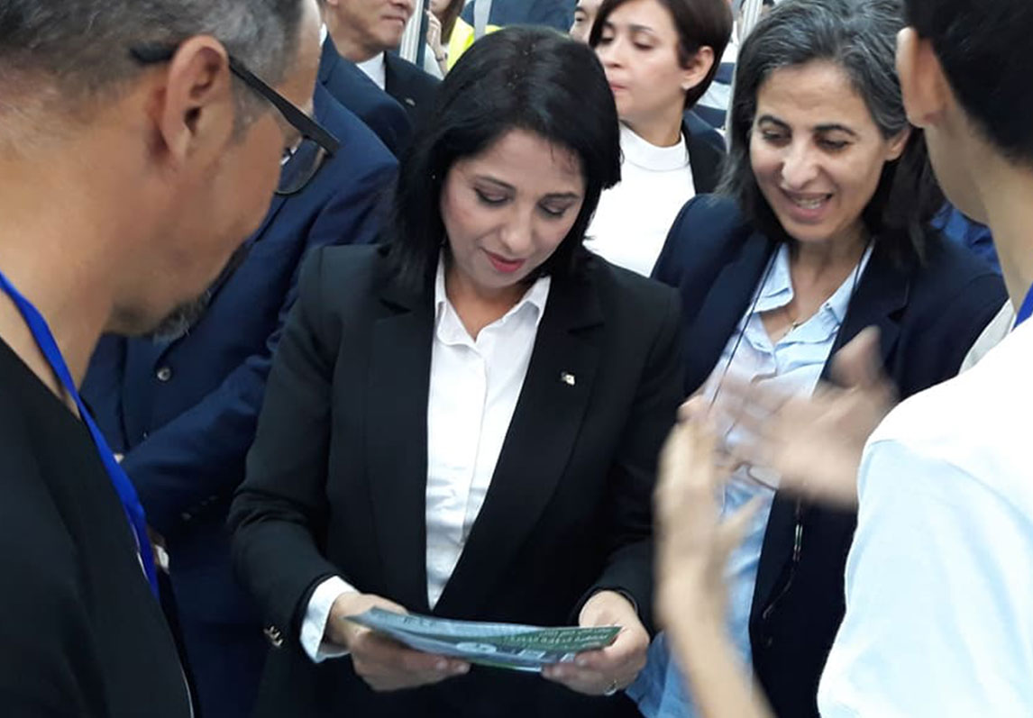 The inauguration of the first ouraction participation flyer with the Algerian Minister of Environment.