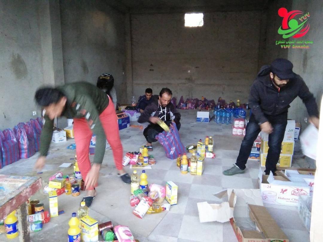 المرحلة الأولى لتوزيع المساعدات الغدائية على مناطق الظل - تنسيقية ولاية عنابة للتكتل الوطني للتضامن و الإغاثة